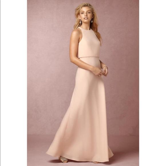 Jill Stuart Dresses | Bhldn Crepe Dress Powder | Poshmark